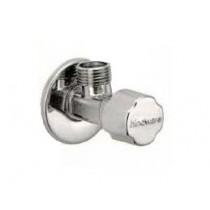 Universal angle valve with wall flange