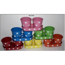 Polka Dot Pot with Tray