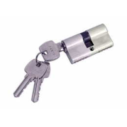 Hardwyn Fiba Mortise Cylinder Lock, Brass Finish