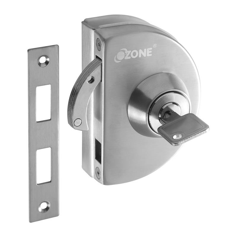 Buy Ozone Hardware Glass Door Lock With Strike Plate Online At