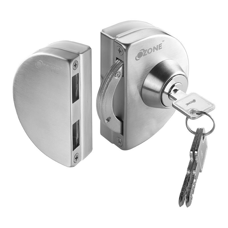 Ozone Hardware Glass Door Lock With Strike Box