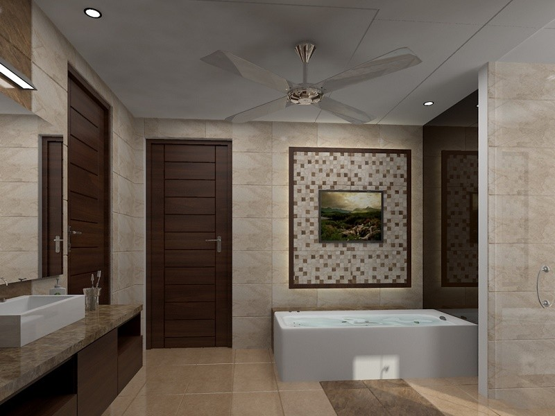 Bathroom design - visualization of comfort