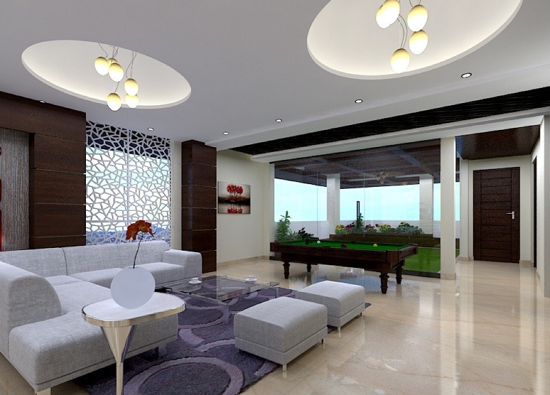 LIVING ROOM DESIGN - MODERN AND SPORTY
