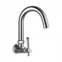sink cock with normal swivel spout & wall flange (wall mounted)