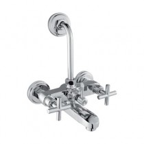 wall mixer with provision for overhead shower with 115 mm long bend pipe