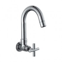sink cock with normal swinging spout (wall mounted)