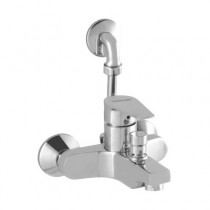 single lever exposed bath & shower mixer L bend