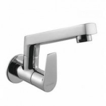 sink cock with swivel casted spout (wall mounted)