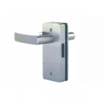 Hardwyn Euro Mortise Handle With Lock, Brushed Nickel (BN), HEML 55A