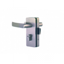 Hardwyn Euro Mortise Handle With Lock, Brushed Nickel (BN), HEML 55