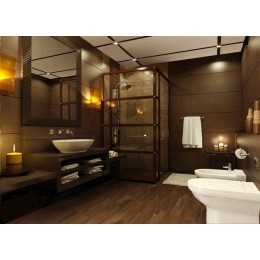 Bathroom design - visualization of comfort